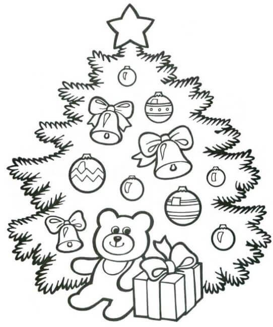 Картинки и рисунки новогодней елки для детей - подборка 17