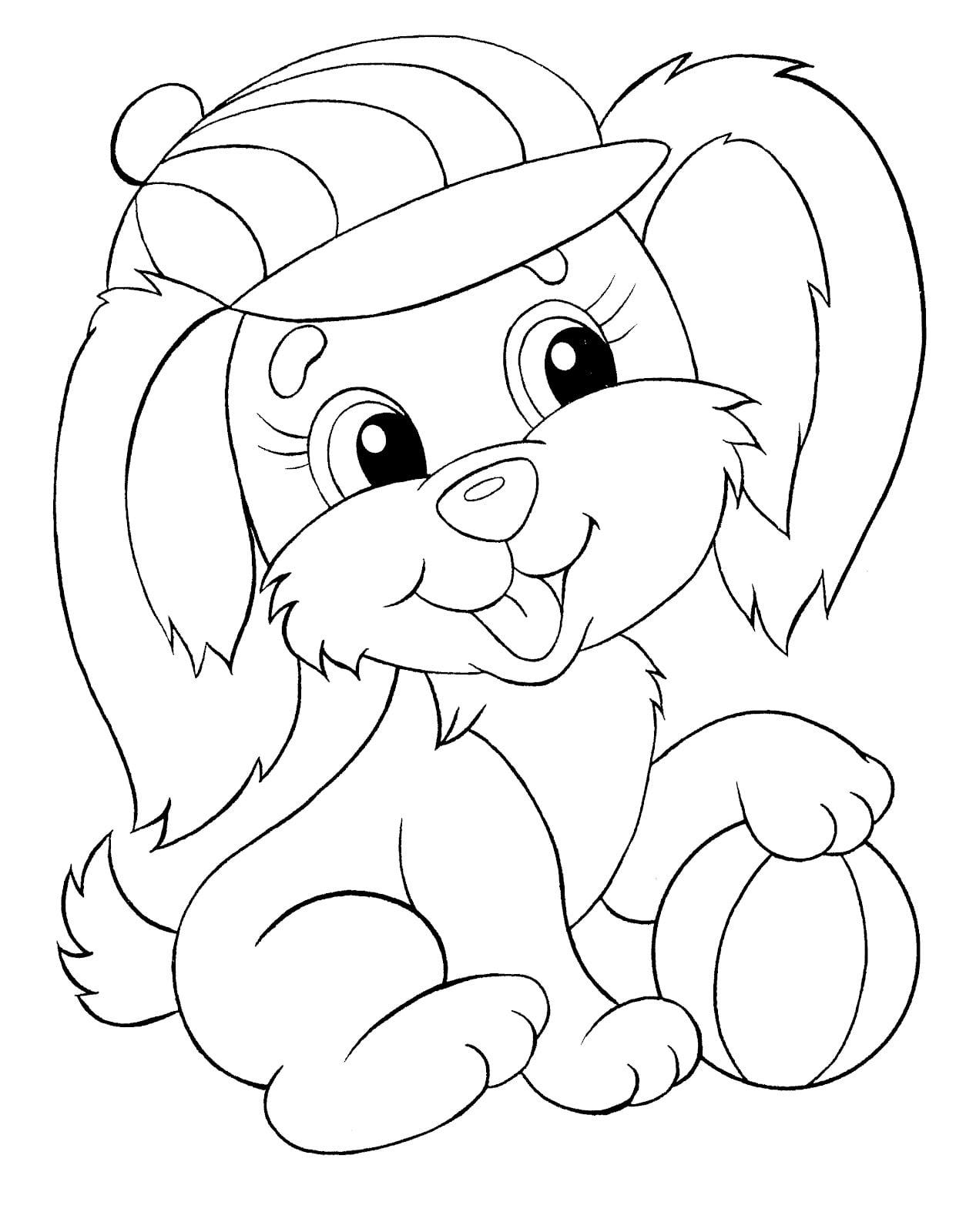 Простые раскраски животных для детей и малышей 25