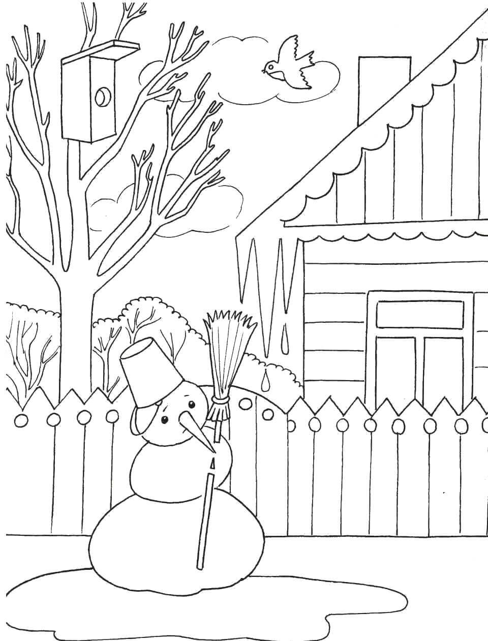 Лучшие картинки рисунки снеговиков для срисовки - коллекция 4