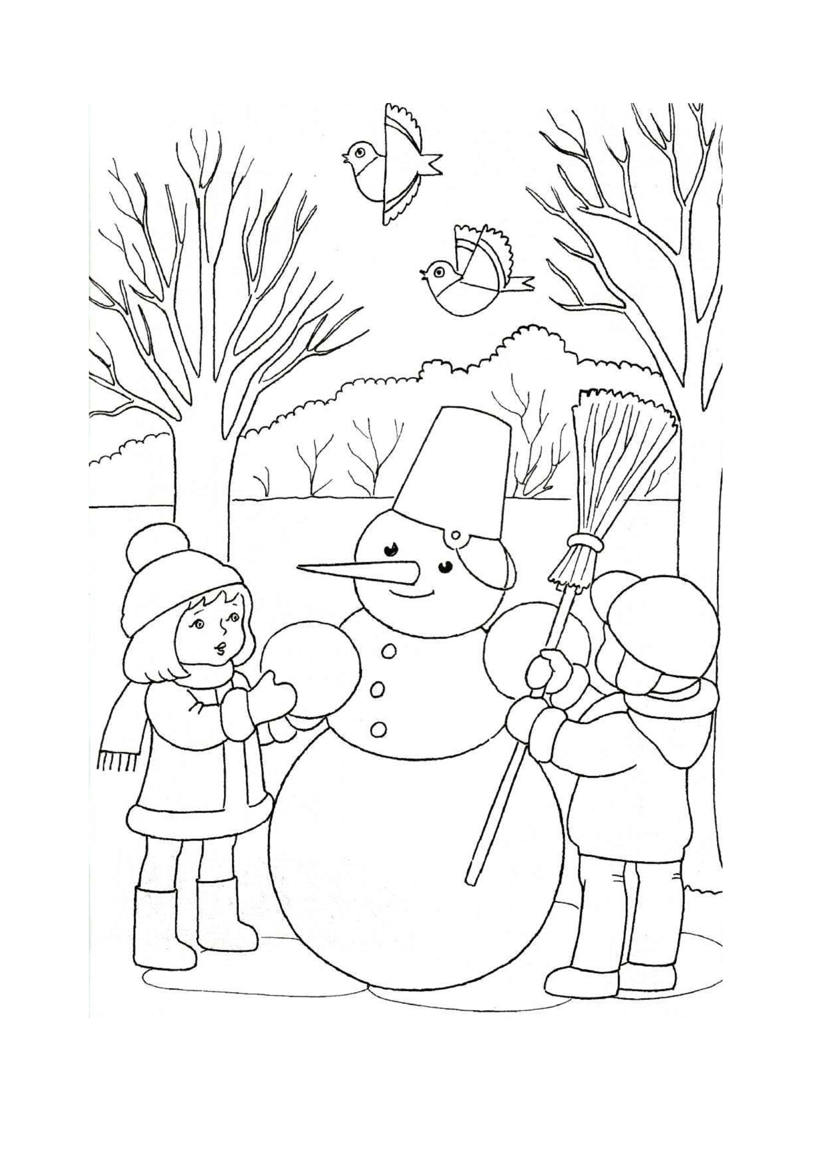 Лучшие картинки рисунки снеговиков для срисовки - коллекция 5