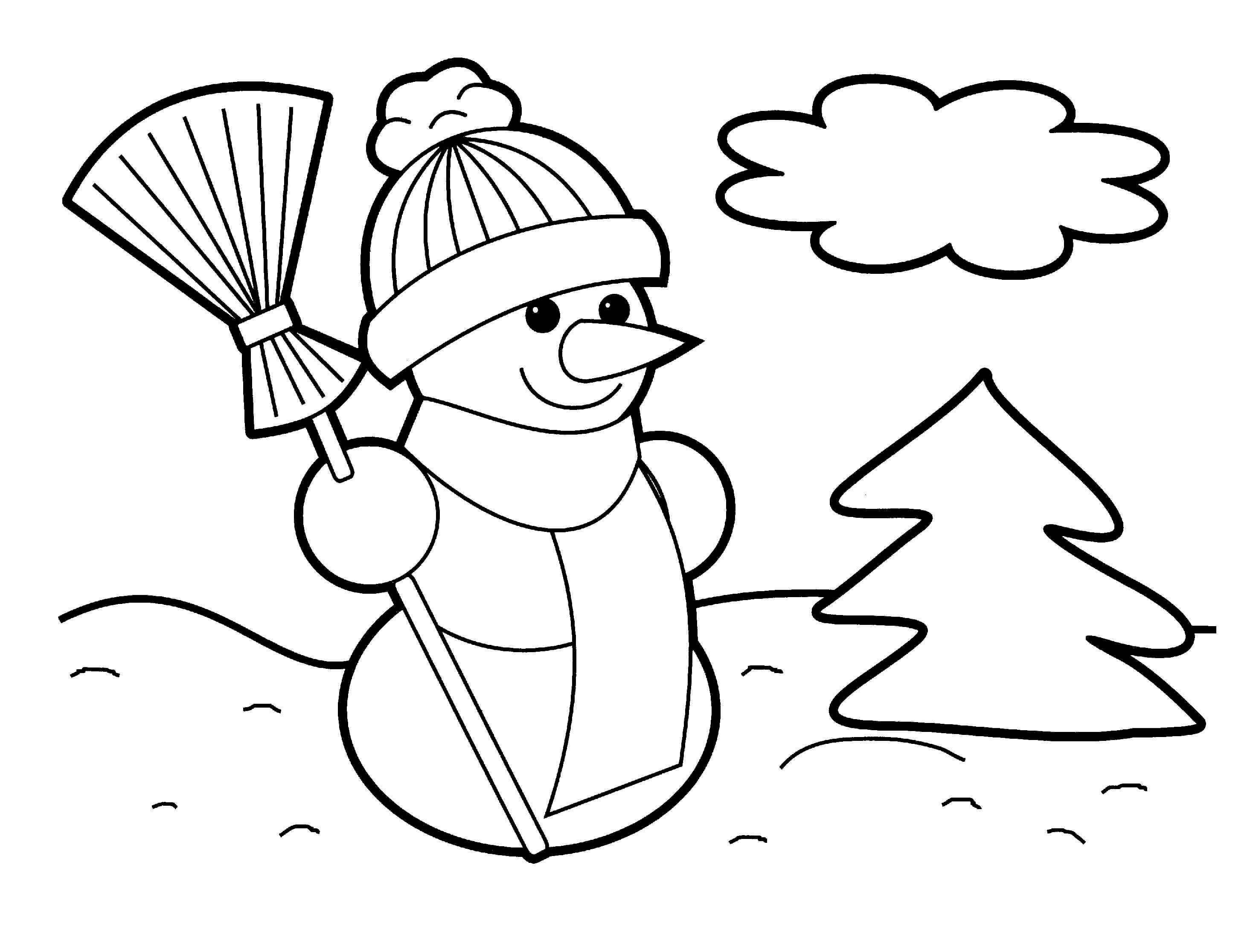 Лучшие картинки рисунки снеговиков для срисовки - коллекция 6