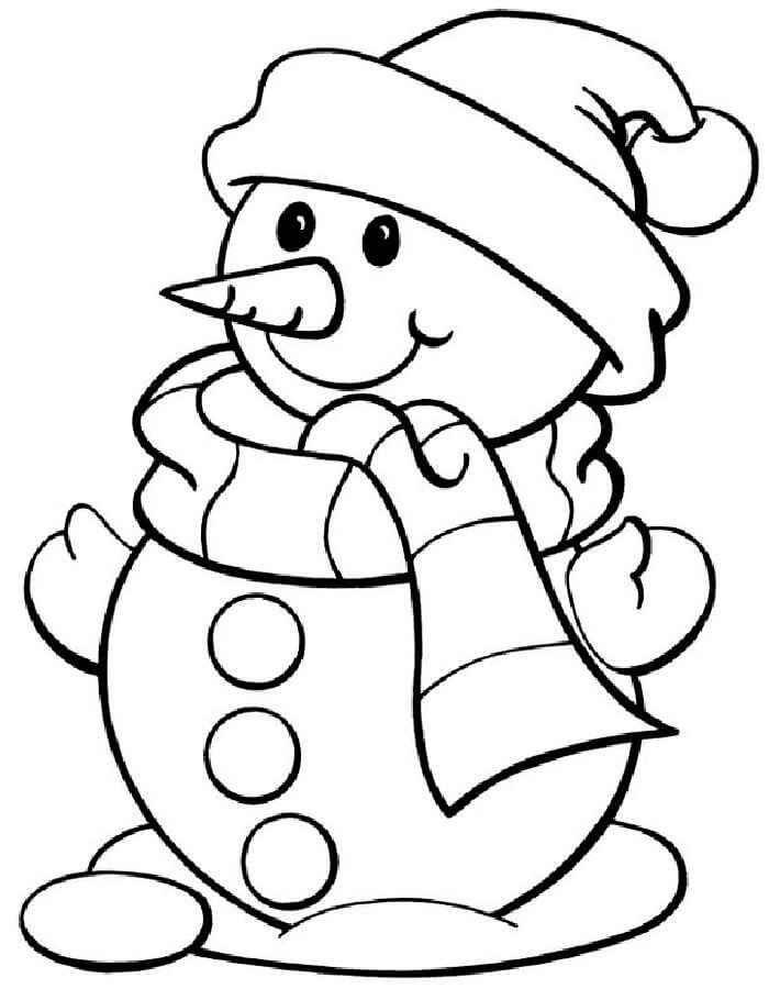 Лучшие картинки рисунки снеговиков для срисовки - коллекция 8