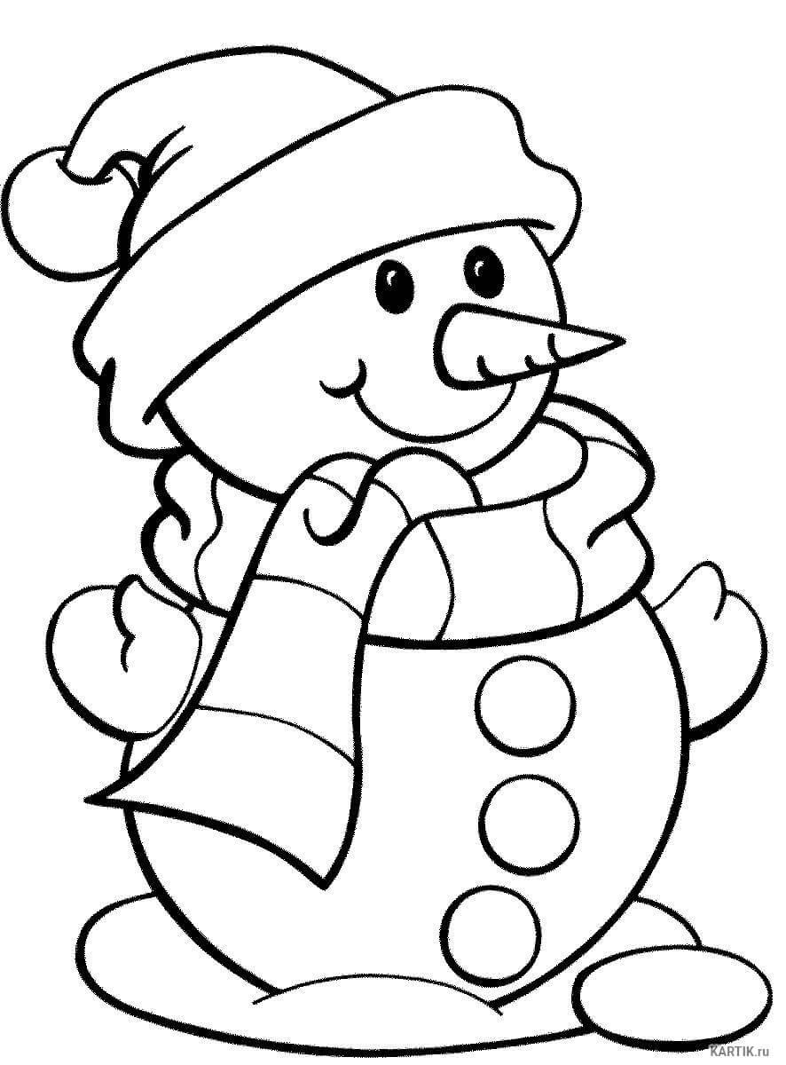 Лучшие картинки рисунки снеговиков для срисовки - коллекция 11
