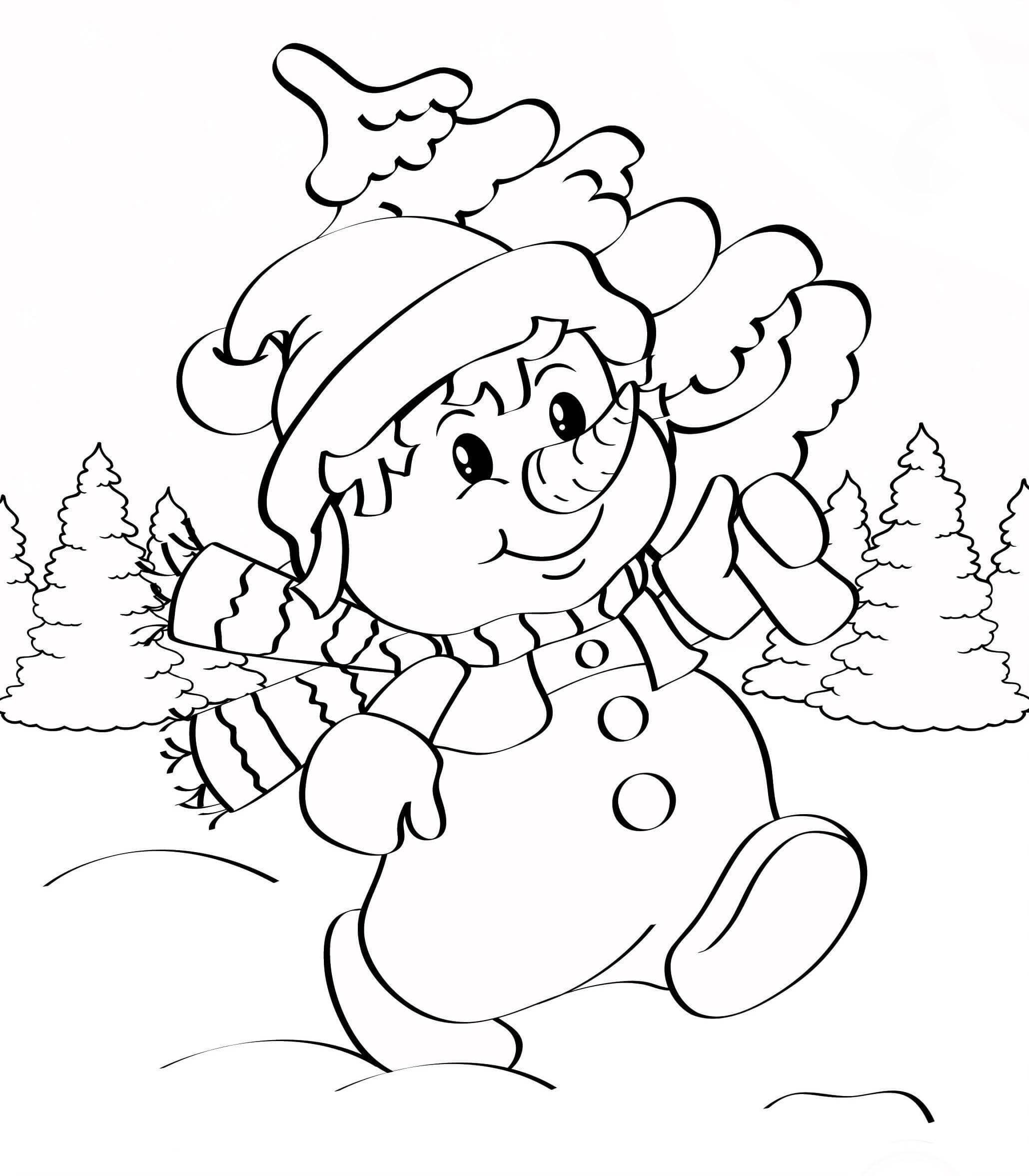 Лучшие картинки рисунки снеговиков для срисовки - коллекция 14