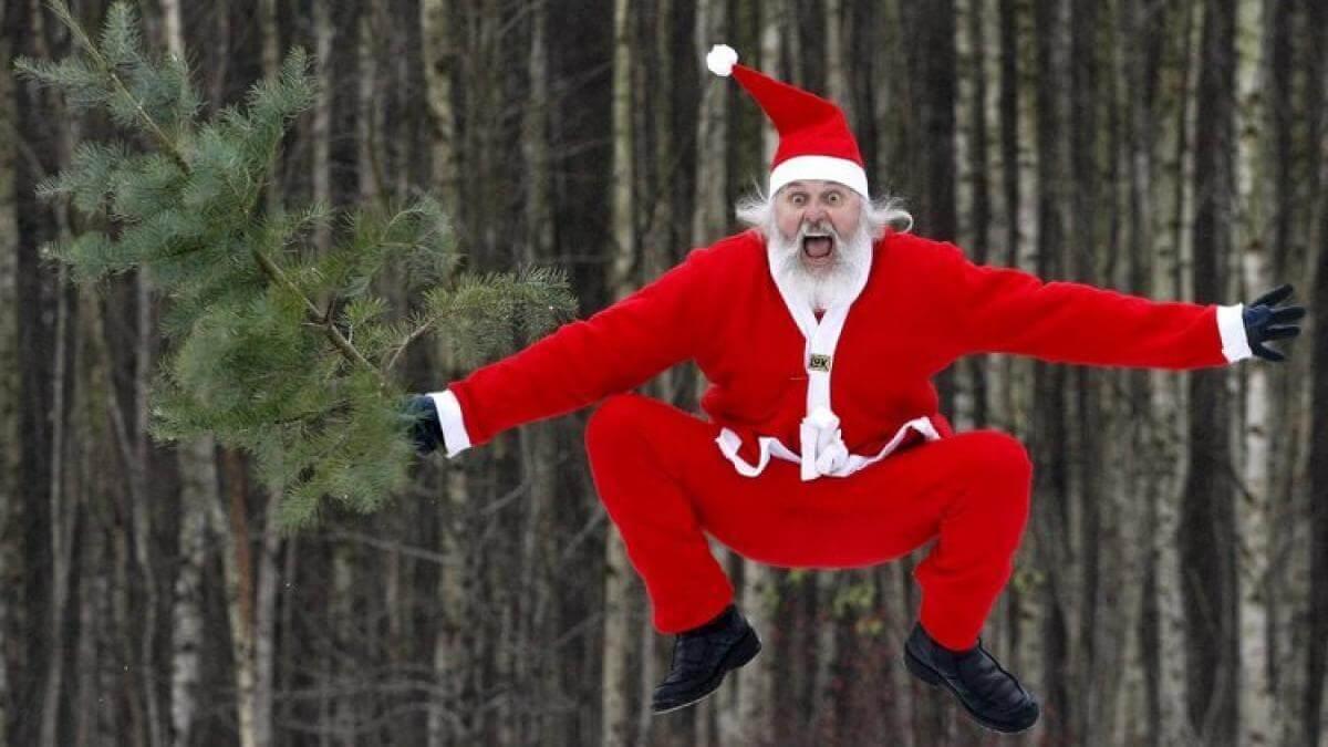 Картинки веселых и смешных Дедов Морозов 19