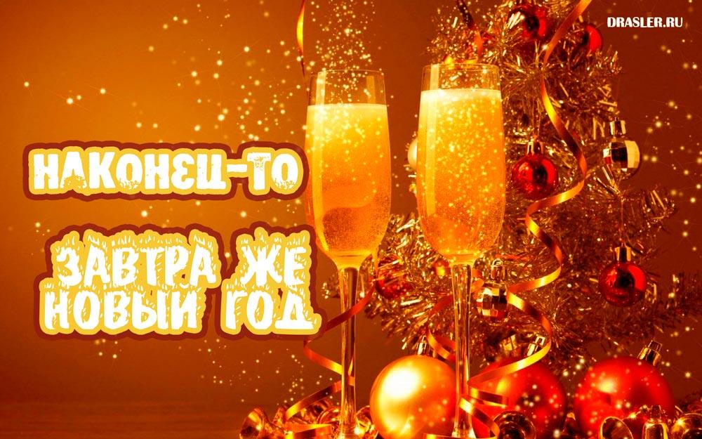 Прикольные картинки А завтра Новый год! - скачать бесплатно 11