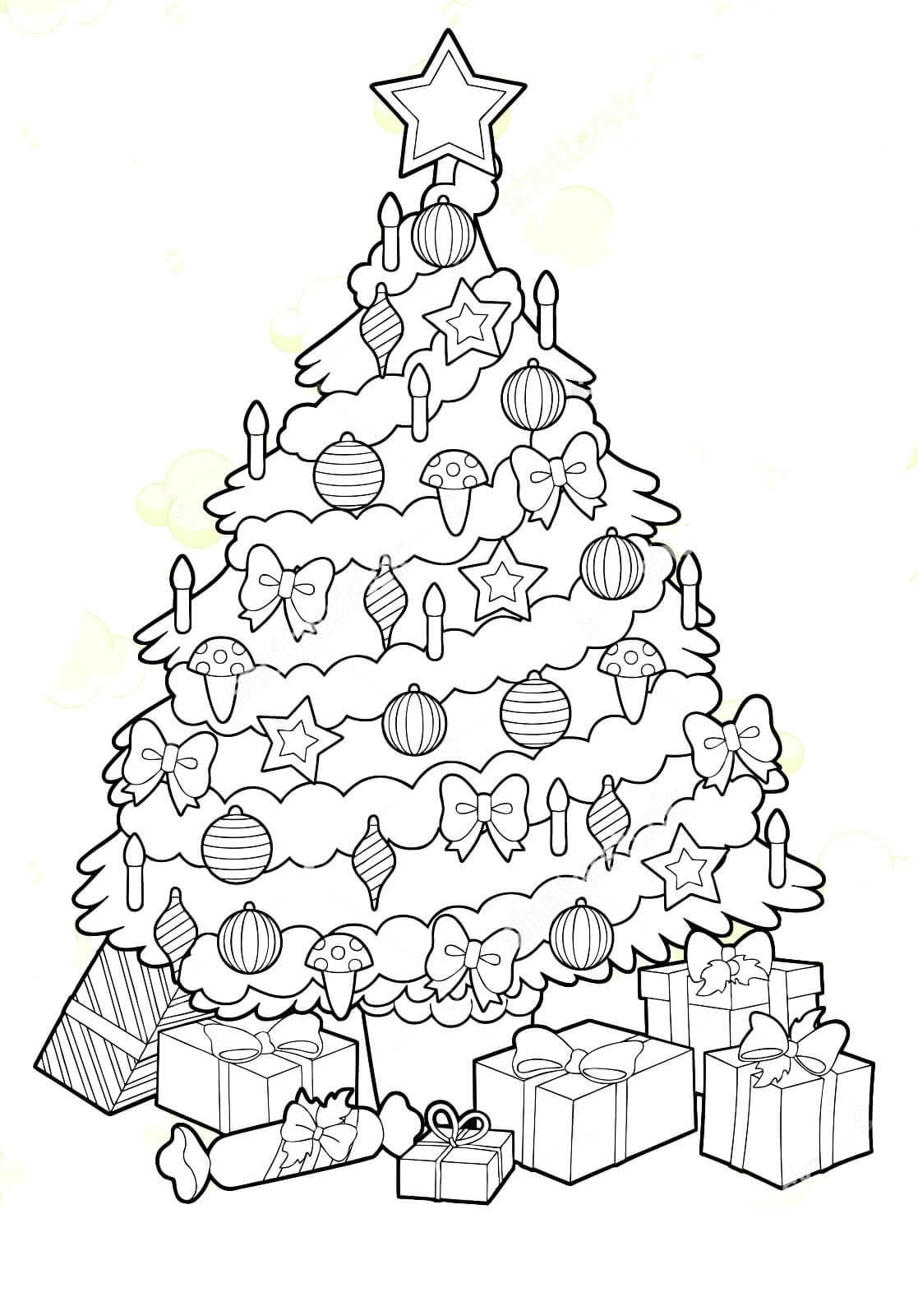 Картинки и рисунки новогодней елки для детей - подборка 18