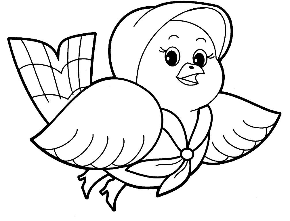 Простые раскраски животных для детей и малышей 27