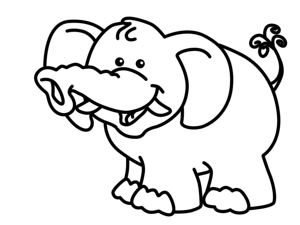 Простые раскраски животных для детей и малышей 28