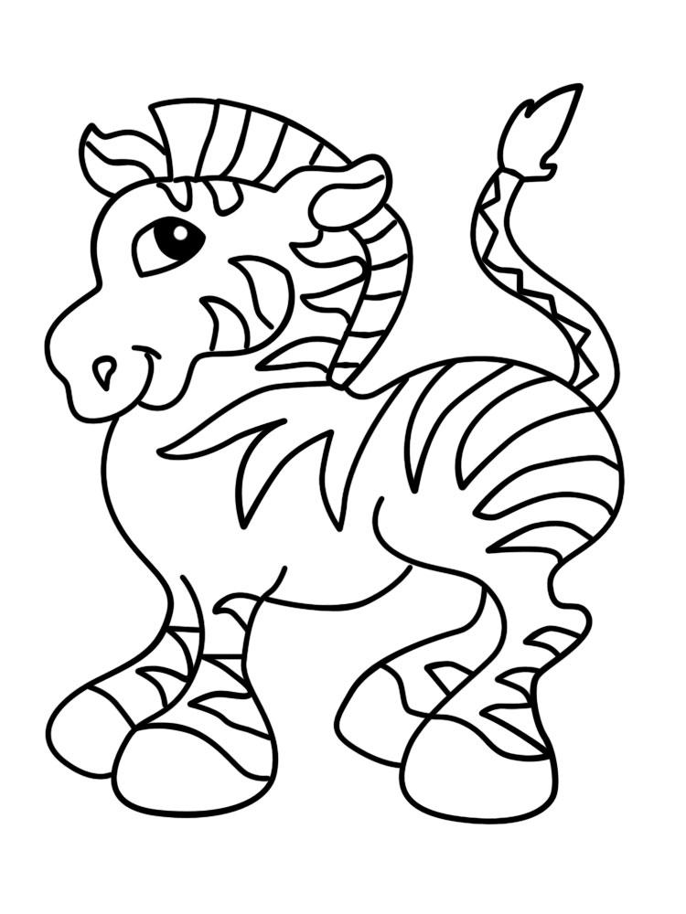 Простые раскраски животных для детей и малышей 29