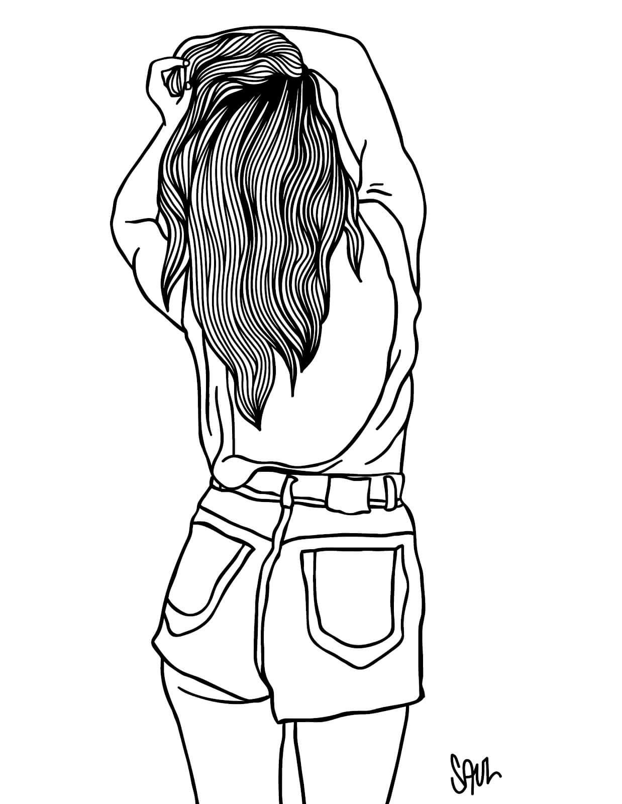 Скачать бесплатно черно-белые картинки для срисовки - сборка (27 штук) 1