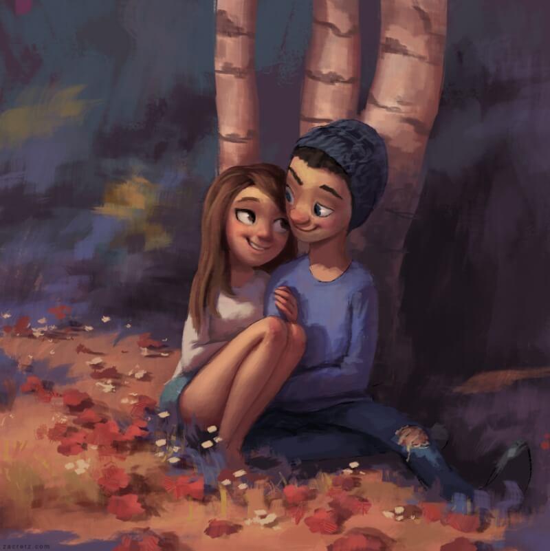 Арт картинки про любовь и отношения - подборка (27 фото) 5