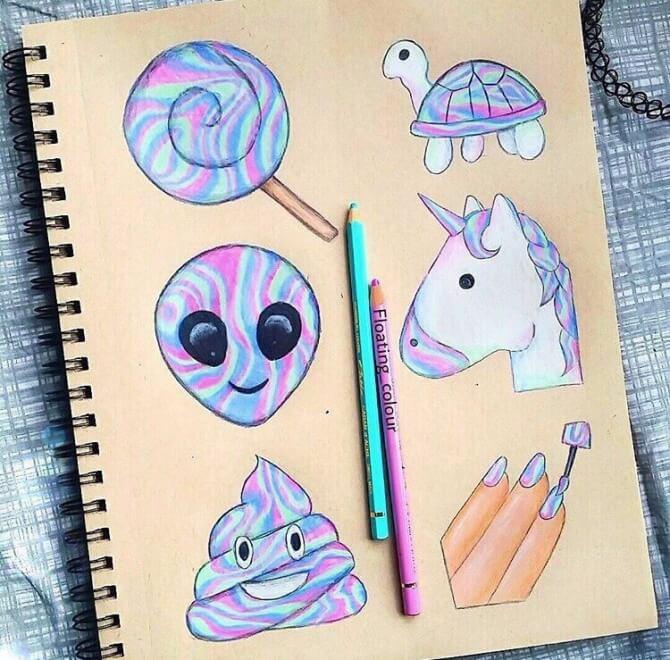 Красивые идеи и картинки для срисовки в личный дневник - сборка (21 фото) 1