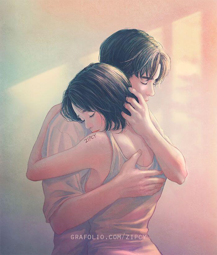 Арт картинки про любовь и отношения - подборка (27 фото) 2