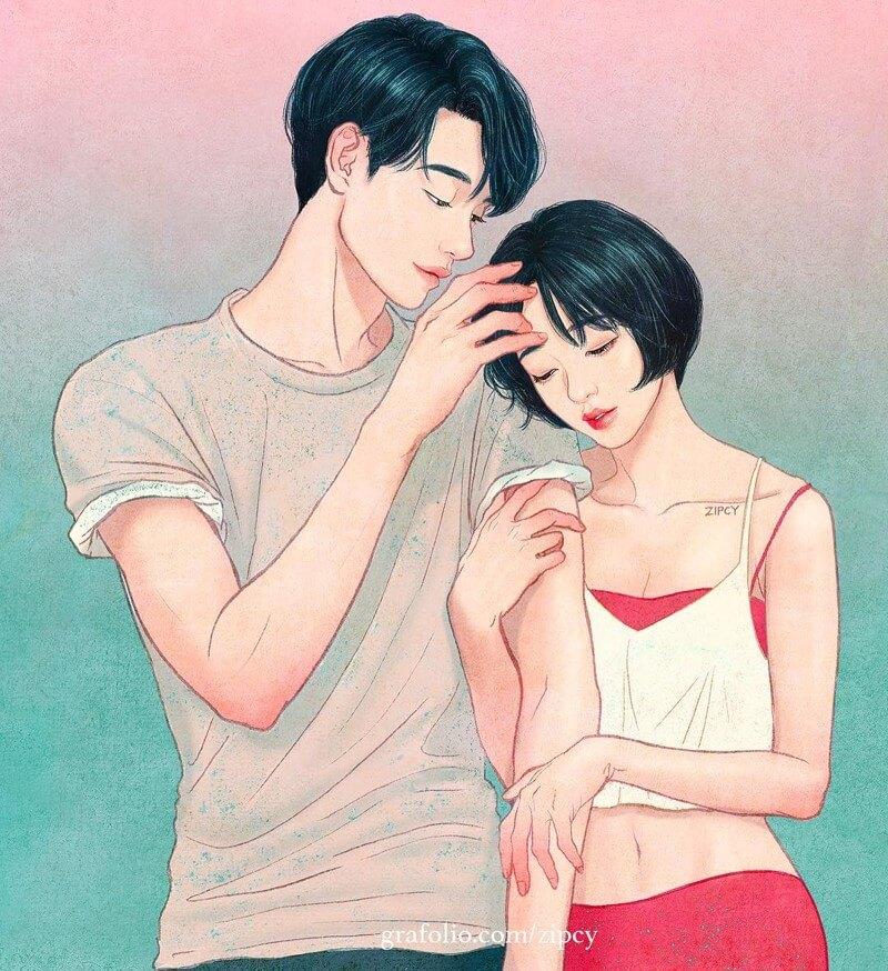 Арт картинки про любовь и отношения - подборка (27 фото) 10