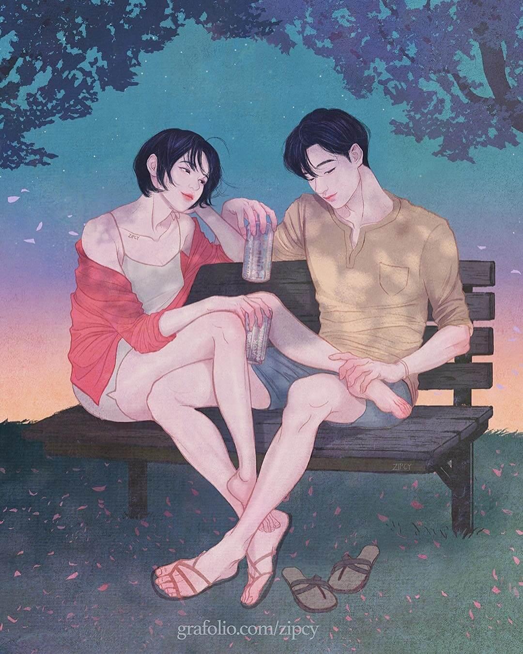 Арт картинки про любовь и отношения - подборка (27 фото) 11