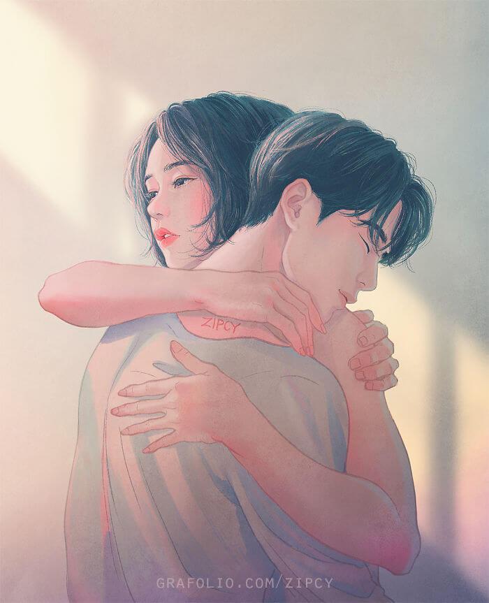 Арт картинки про любовь и отношения - подборка (27 фото) 6