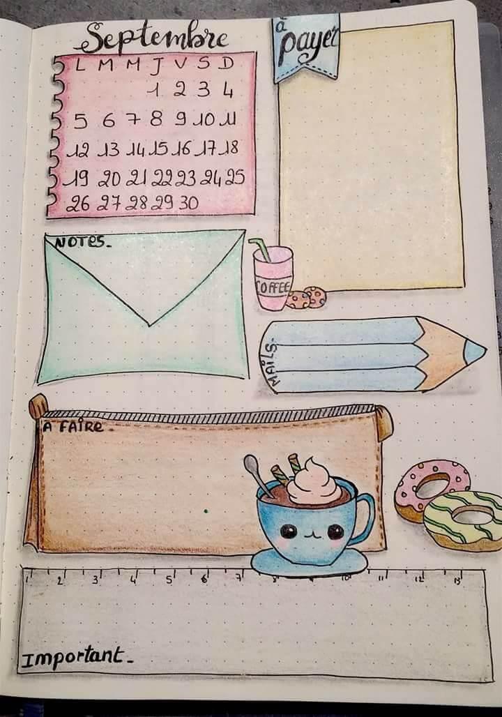 Красивые идеи и картинки для срисовки в личный дневник - сборка (21 фото) 3