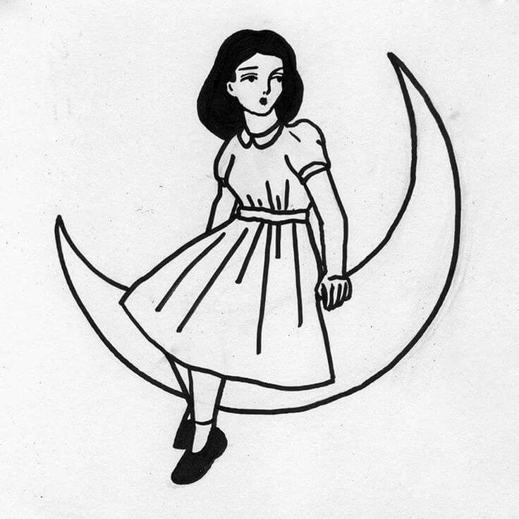 Скачать бесплатно черно-белые картинки для срисовки - сборка (27 штук) 9