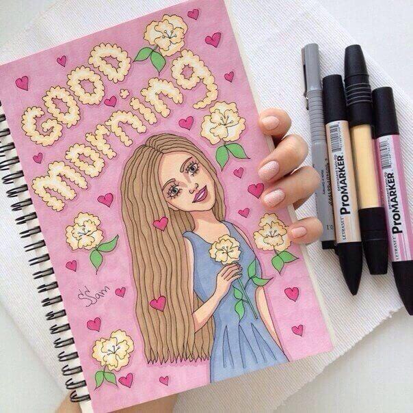 Красивые идеи и картинки для срисовки в личный дневник - сборка (21 фото) 5