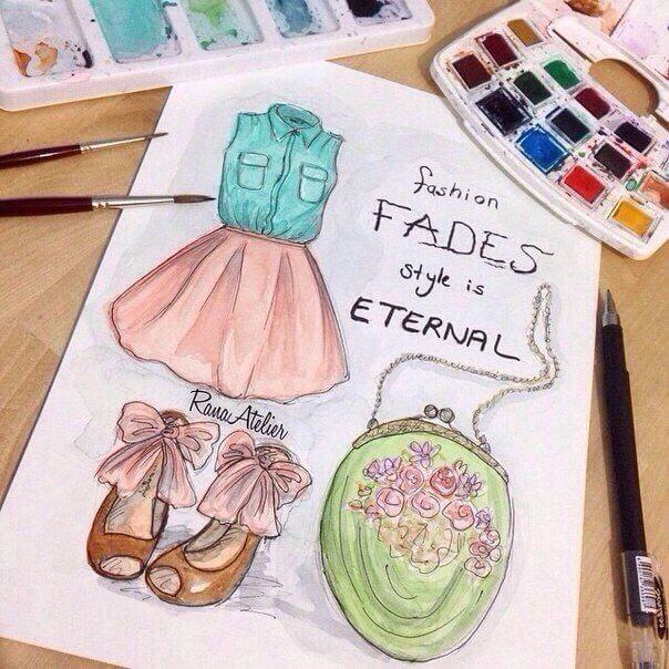 Красивые идеи и картинки для срисовки в личный дневник - сборка (21 фото) 7