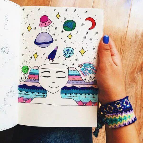 Красивые идеи и картинки для срисовки в личный дневник - сборка (21 фото) 8
