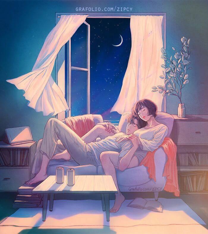 Арт картинки про любовь и отношения - подборка (27 фото) 14