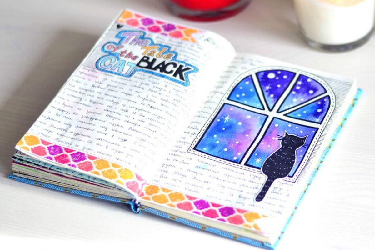 Красивые идеи и картинки для срисовки в личный дневник - сборка (21 фото) 12
