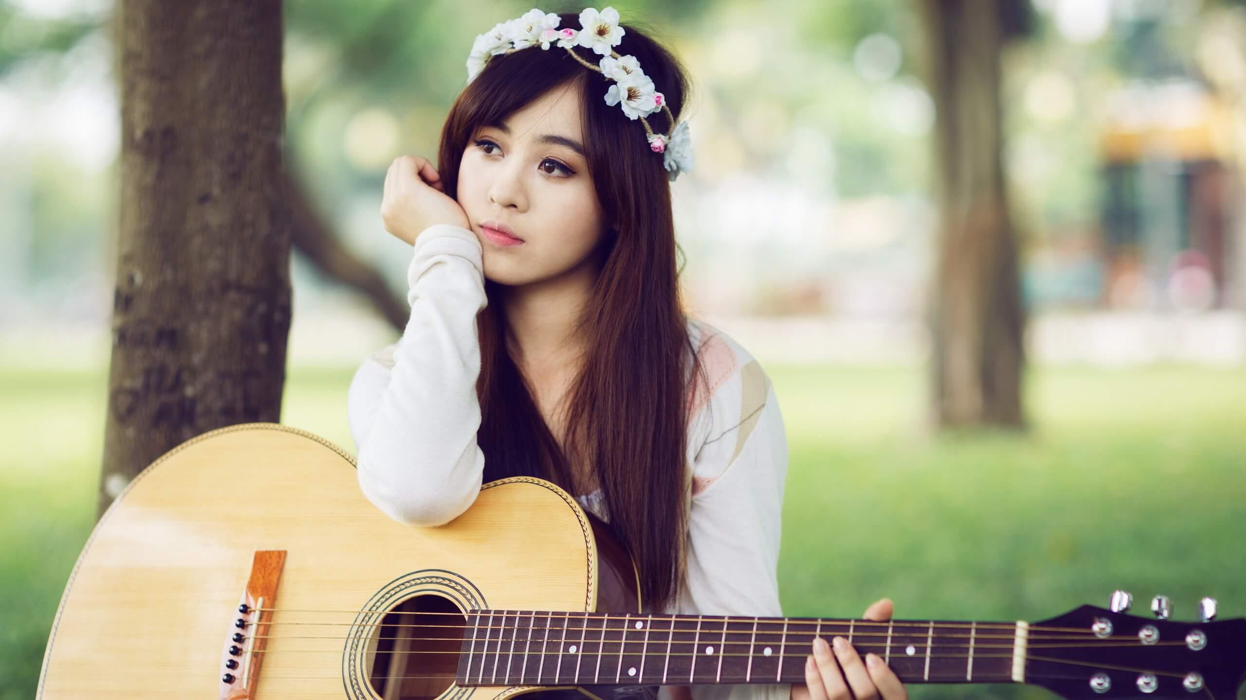 Прикольные картинки девушка и музыка, лучшие обои, фото (26 штук) 9