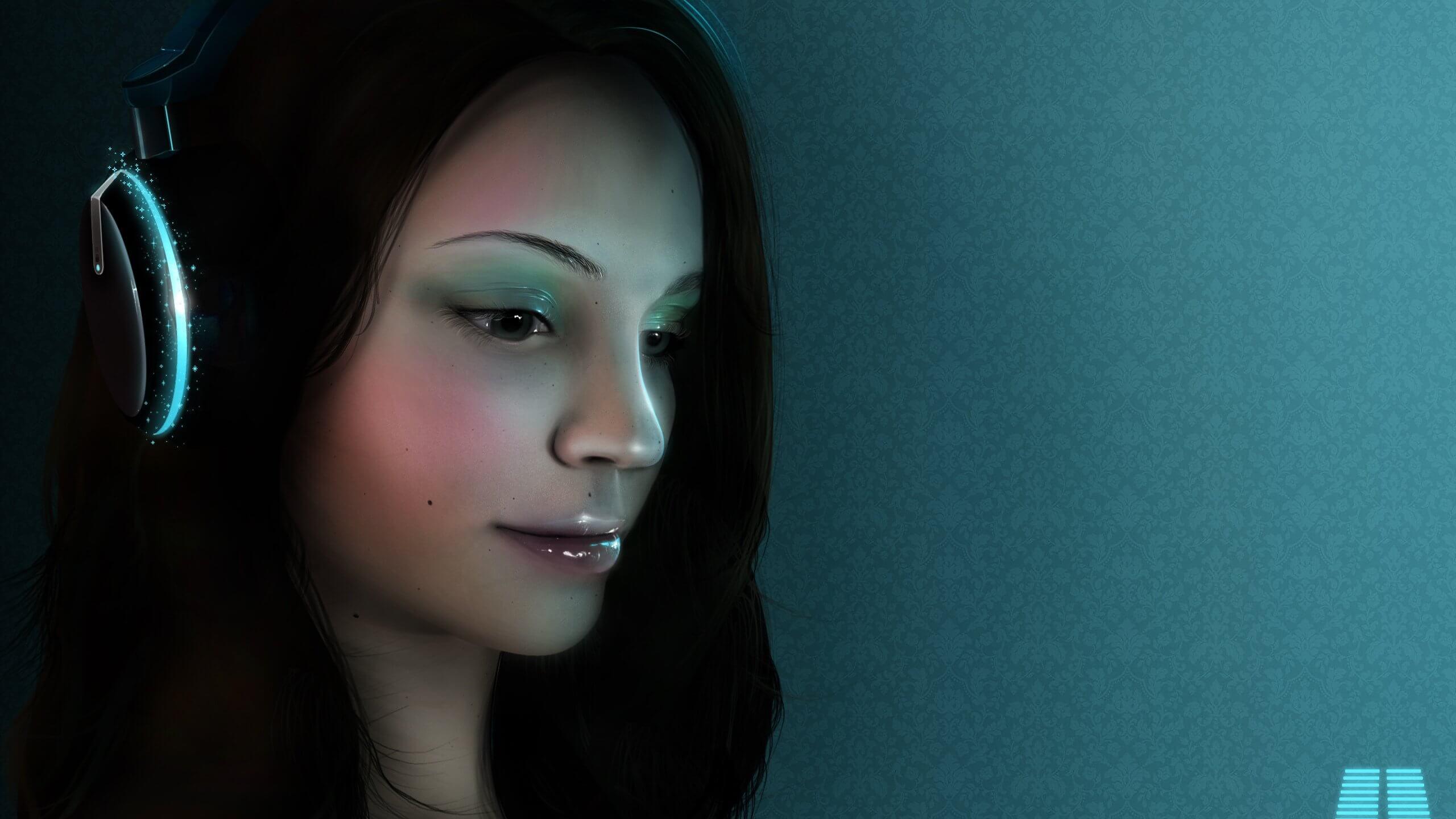 Прикольные картинки девушка и музыка, лучшие обои, фото (26 штук) 18