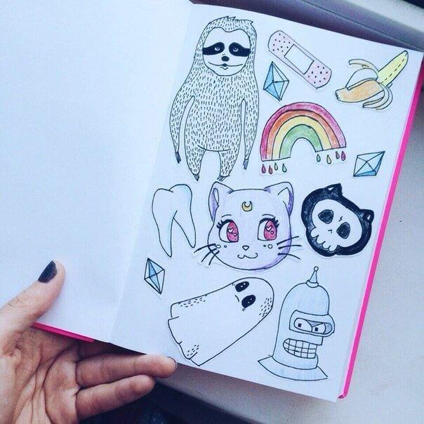 Красивые идеи и картинки для срисовки в личный дневник - сборка (21 фото) 13