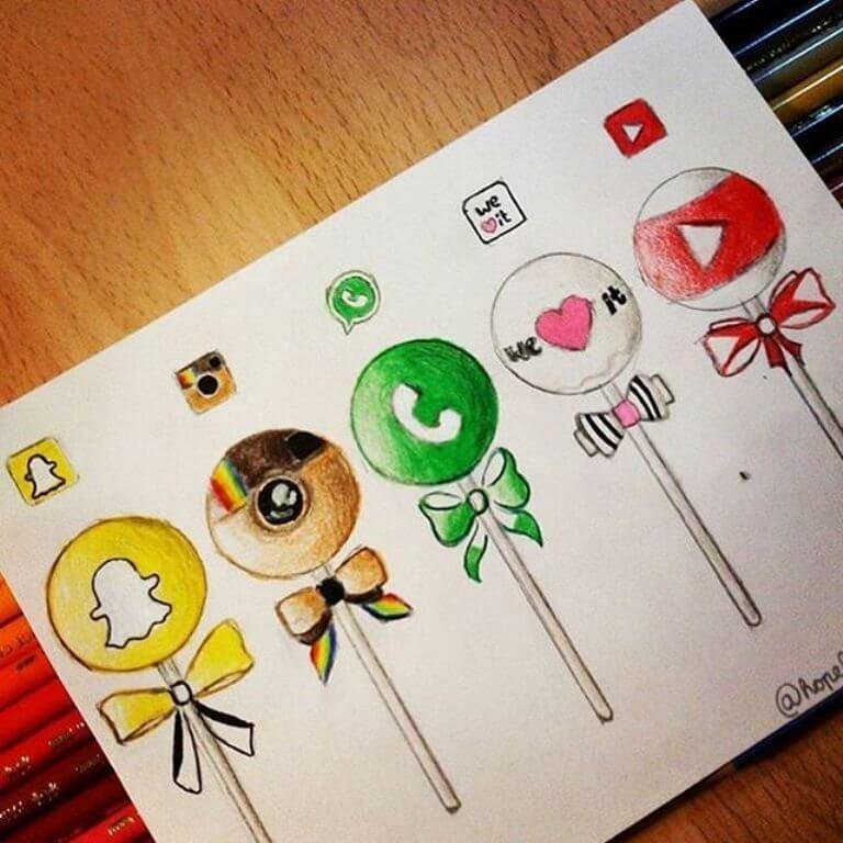 Красивые идеи и картинки для срисовки в личный дневник - сборка (21 фото) 16