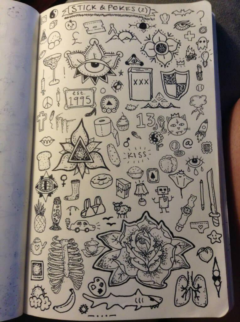 Красивые идеи и картинки для срисовки в личный дневник - сборка (21 фото) 17