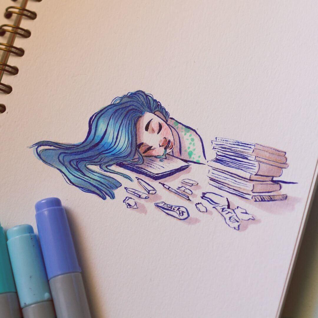 Красивые идеи и картинки для срисовки в личный дневник - сборка (21 фото) 18