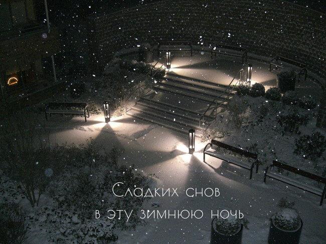 Спокойной зимней ночи - картинки и открытки (14 фото) 14
