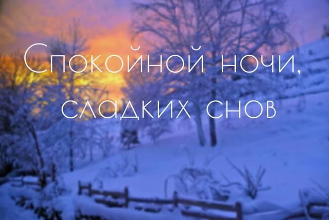 Спокойной зимней ночи - картинки и открытки (14 фото) 13