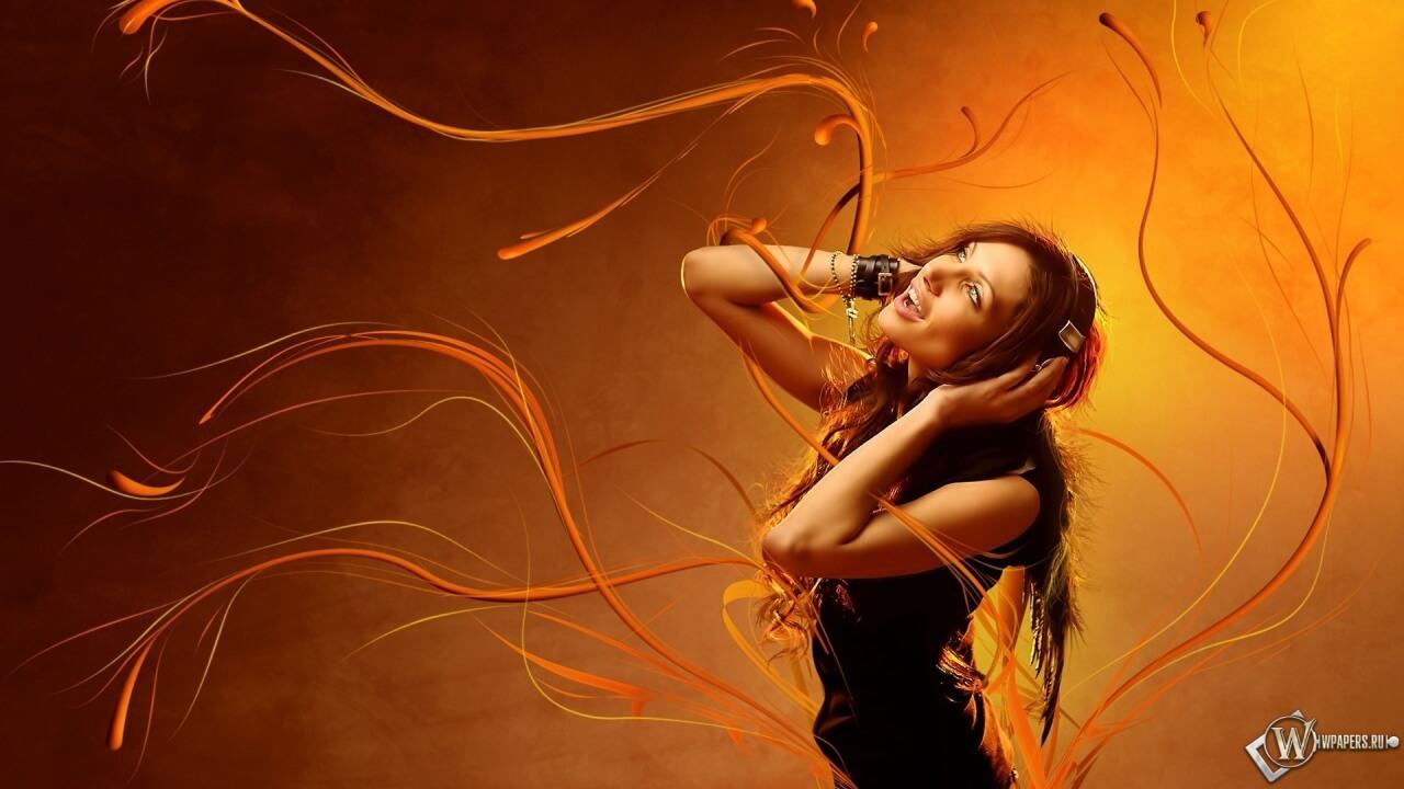 Прикольные картинки девушка и музыка, лучшие обои, фото (26 штук) 26