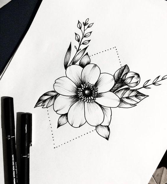 Картинки цветами для срисовки