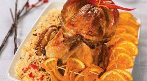 Как приготовить рождественскую индейку с апельсинами - рецепт 1