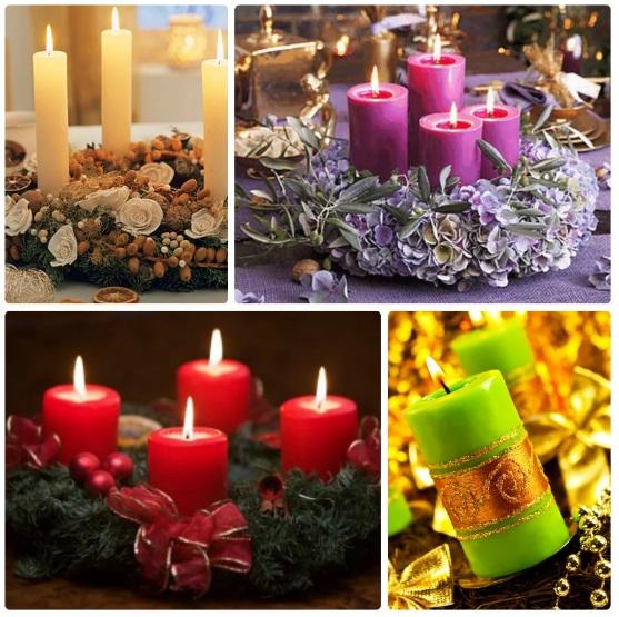 Рождественский венок из свечей - украшаем дом к Новому году 1