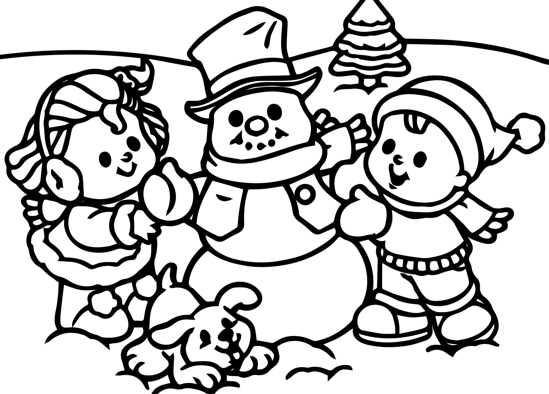 День работников, раскрась новогоднюю картинку