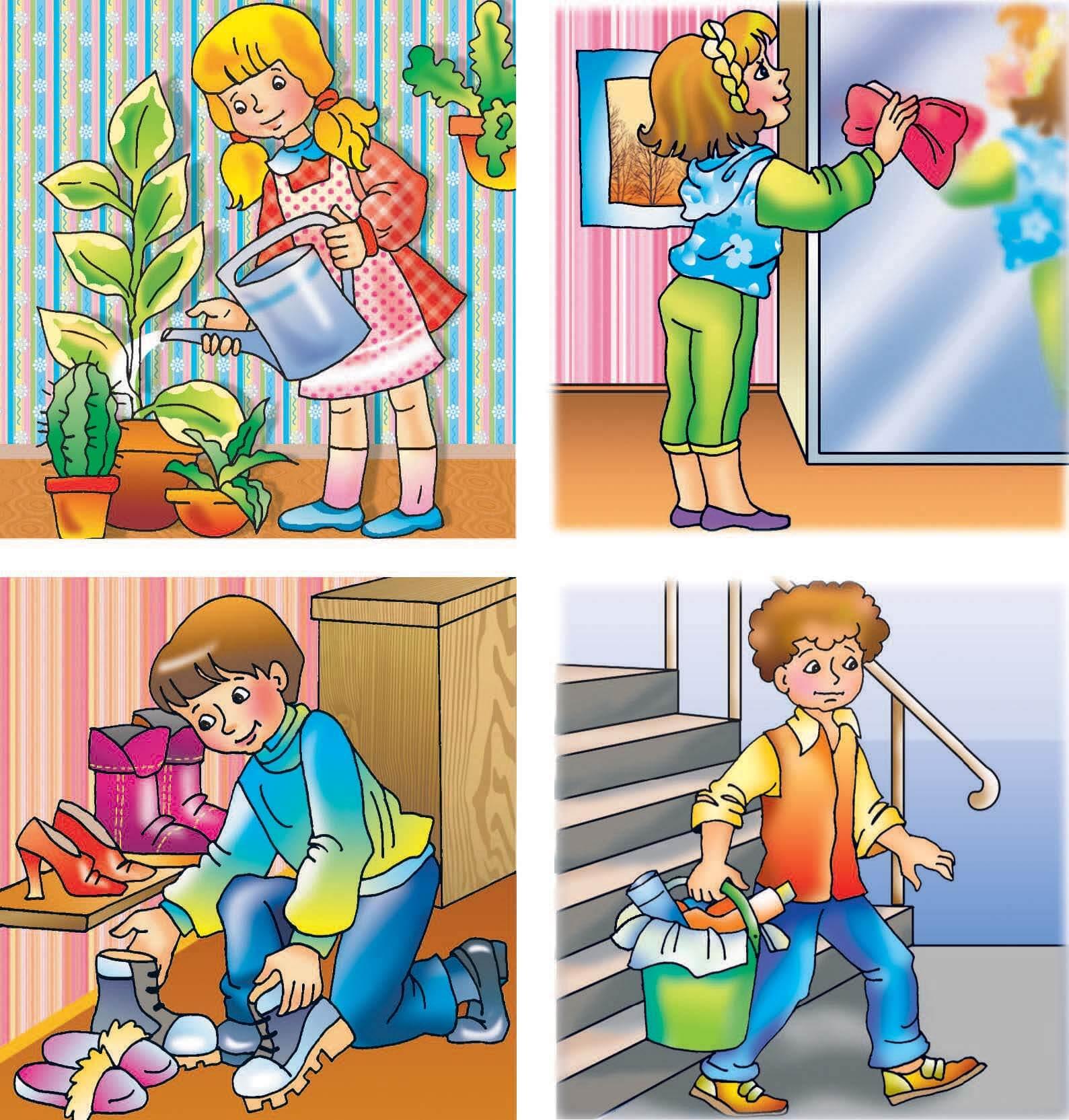 Картинки домашние дела для детей, рабочий стол кошки