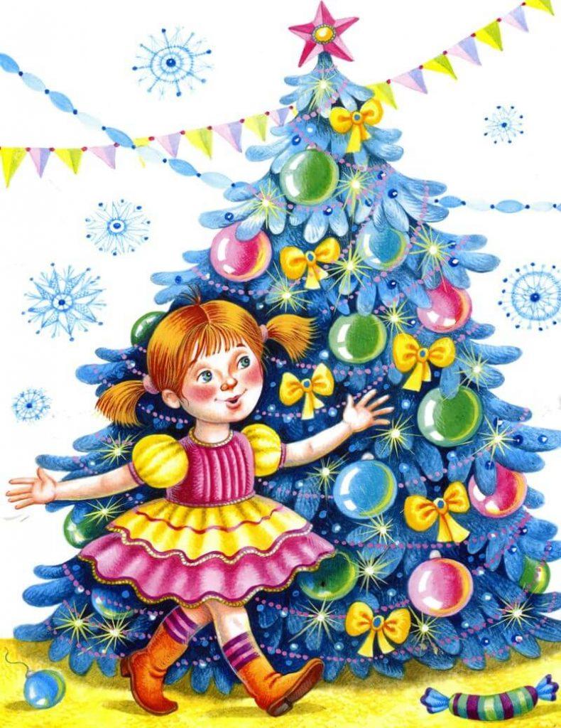 Про, хоровод вокруг елки картинки для детского сада