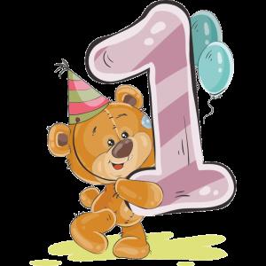 Милые картинки с Днем Рождения 1 годик - подборка 13