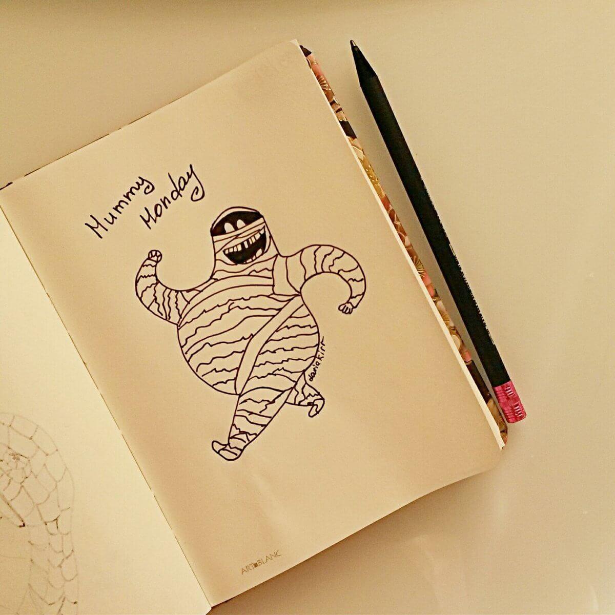 Прикольные рисунки в скетчбук для срисовки, для