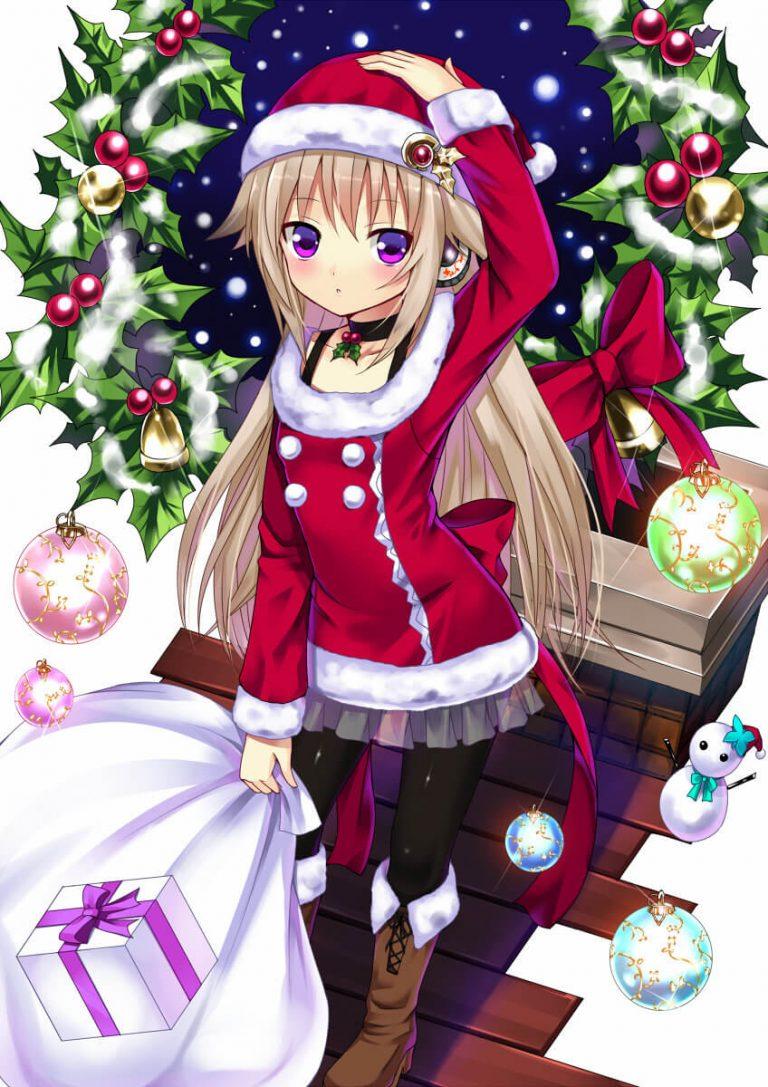 Привет, новогоднее аниме картинки
