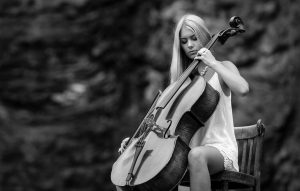 Прикольные картинки девушка и музыка, лучшие обои, фото (26 штук) 17