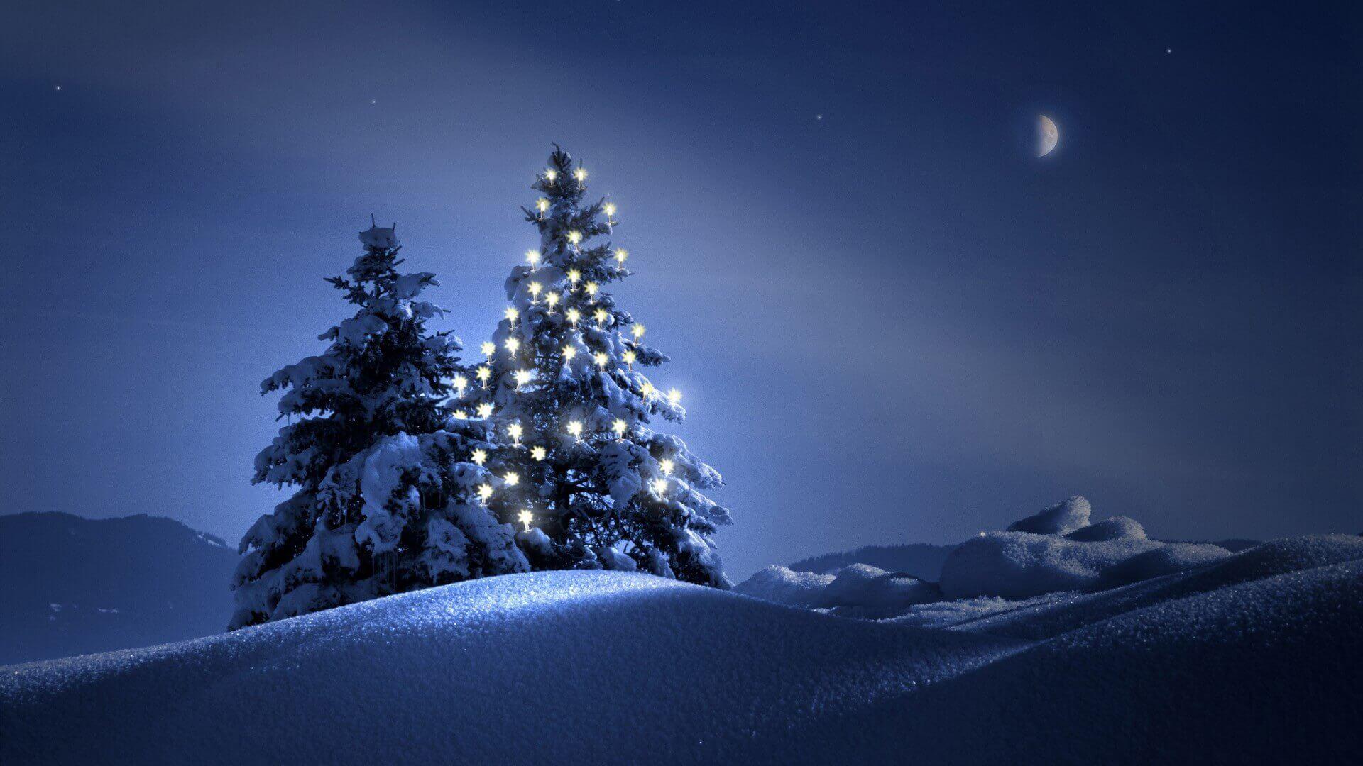 проектировании картинки на рабочий стол зима елка на весь экран рождения самый