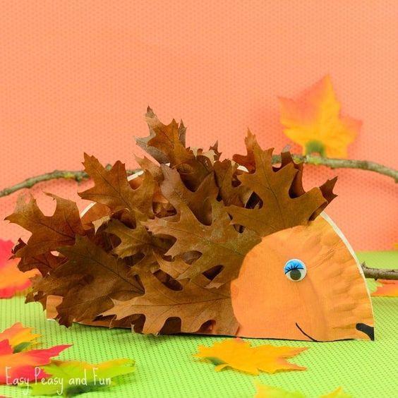 Аппликация из листьев на тему осень для детского сада   сборка (20 картинок) (11)