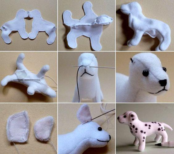 Выкройка собаки из ткани своими руками   коллекция (26 картинок) (6)